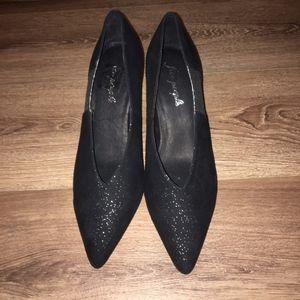 Free People FLORENCE Black Sparkle Heel Size 40